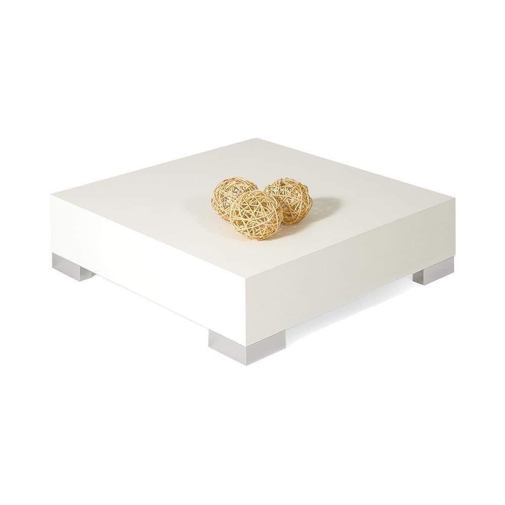 Mobili Fiver iCUBE 60 Tavolino da Salotto 60x60x18 cm Bianco Frassino Legno