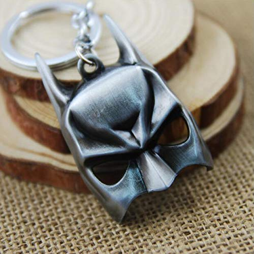 Batman Dark Knight Mask Model Alloy Exquisite Keychain Pendant (Silver)