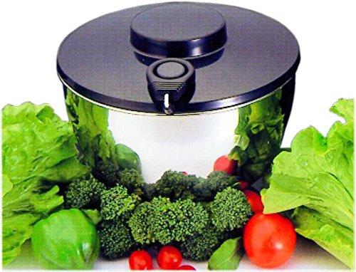 WAS 1628240 essoreuse à salade en acier inoxydable 18/10 24 x 11, 5 cm
