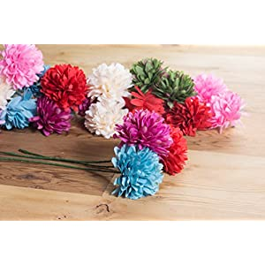 Juvale Artificial Flower Heads - 60-Pack Fake Fabric Flowers for Wedding Decorations, Baby Showers, DIY Crafts, Multiple Colors 2