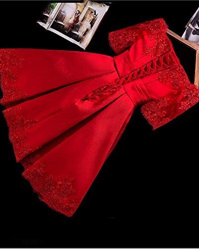 Y der Abendkleid L der EIN Größe Toast Ein Schulterbraut Kleidkurzes Brautjunferkleid Rotes Kleidet Dünnes 1qqZAHvxw