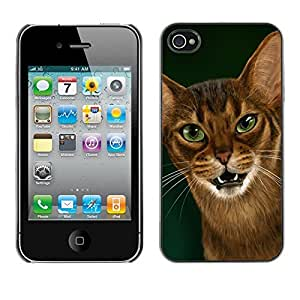 YiPhone /// Prima de resorte delgada de la cubierta del caso de Shell Armor - Cornish Rex Abyssinian Ocicat - Apple iPhone 4 / 4S