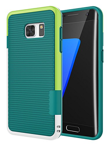 Galaxy S7 Edge Case, Jeylly One-Piece Ultra Slim 3 Color Impact Anti-Slip Rugged Soft TPU Bumper Shockproof Protective Case Cover Shell for Samsung Galaxy S7 Edge S VII Edge G935 - Green