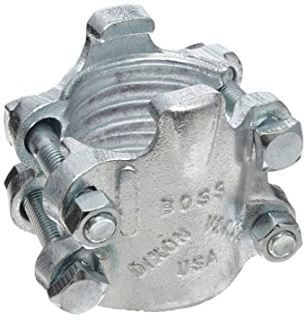 "Dixon BU29 Plated Iron Boss Clamp, 2"" Hose ID, 2-32/64"" - 2-50/64"" Hose OD"