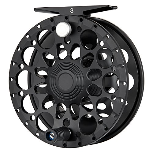 Piscifun Crest Fully Sealed Drag Large Arbor Fly Fishing Reel Saltwater CNC-machined Aluminum Alloy Fly Reel 9/10 Black