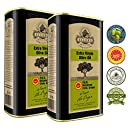 Ellora Farms | Single Estate Traceable Extra Virgin Olive Oil | First Cold Press | Protected Designation of Origin PDO | Harvested in Crete, Greece | Kosher | 1 Liter (33.8 oz) Tins | Pack of 2