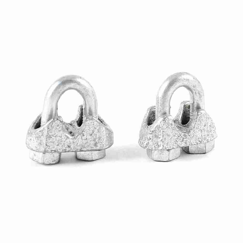 Move&Moving(TM) 3mm 3/25' Wire Rope Clip Metal U Shaped Bolt Cable Clamp Fastener 2 Pcs