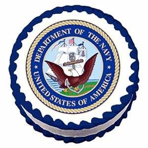 Navy Emblem Cake Topper