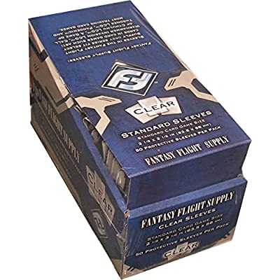 500 Fantasy Flight Games Standard Card Game Size Sleeves - 10 Packs + Box - FFS05 63.5 x 88 by Fantasy Flight Games: Toys & Games
