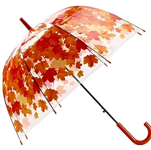 Bubble Umbrella Transparent Thicken PVC Mushroom Green Leaves Rain Clear Leaf - Okley Uk