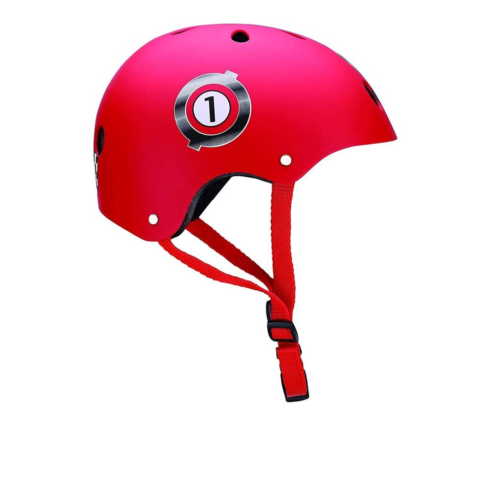 Globber Junior Print Racing Casque de Protection Mixte Enfant, Rouge, XXS (48-51cm) GLOOF #Globber PKGB0000504-002