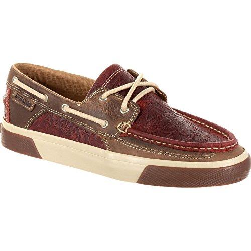 Durango Women's Music City Boat Shoe, Vintage red, 7.5 Medium US ()