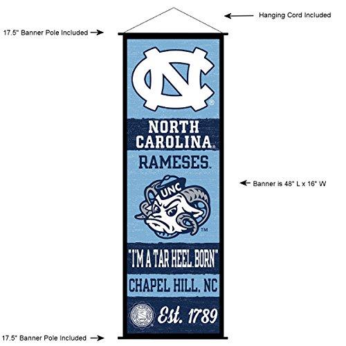 North Carolina Tar Heels Banner and Scroll ()