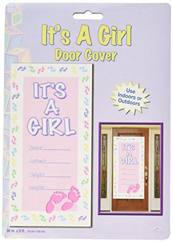 It's A Girl Door Cover Party Accessory (1 count) (1/Pkg) -