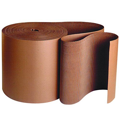 Ship Now Supply SNSF12 Singleface Corrugated Roll, A-Flute, 12'' Width, Kraft by Ship Now Supply