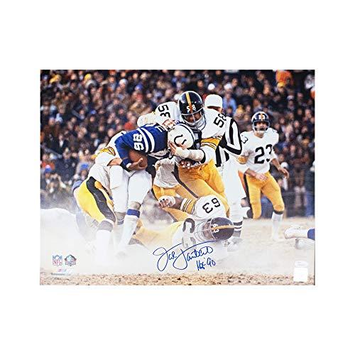 Jack Lambert HOF Autographed Pittsburgh Steelers 16x20 Photo - JSA COA (B)