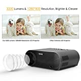 TENKER Projector, 3200 Lumens 1280x800 Resolution LCD Video Projector with HDMI Cable, Multimedia Portable Home Theater Projector Support 1080P HDMI USB VGA AV TV Laptop Game iPhone Android