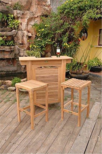 - Anderson Teak Set-49 - No Cushion Montego Bar Table & Montego Backless Bar Chair Set