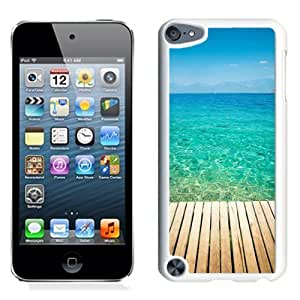 NEW Unique Custom Designed iPod Touch 5 Phone Case With Wooden Dock Transparent Sea Water_White Phone Case