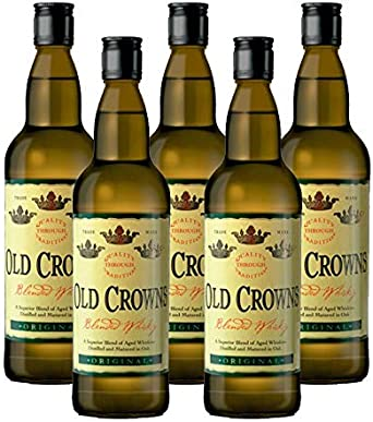Whisky Old Crowns de 70 cl - Bodegas Grupo Estevez (Pack de 5 botellas): Amazon.es: Alimentación y bebidas