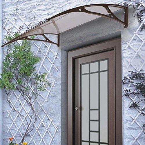 amazoncom beautymark 41inch wide tacoma windowdoor awning 12 by 36inch bronze patio lawn u0026 garden