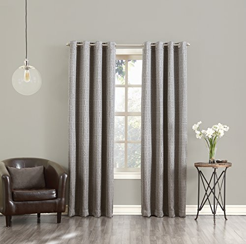 Sun Zero Theodore Blackout Lined Single Curtain Panel, 52