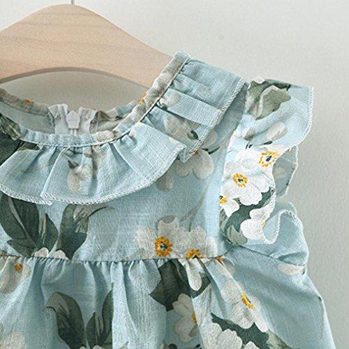 6b0eacdd4 Outlet K-youth Verano Vestidos para niña Barata Vestidos bebe niñas  Ceremonia Sin mangas Imprimir