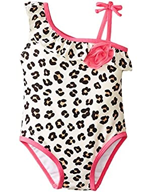 Baby-Girls One Piece Leopard Swimsuit