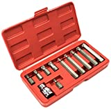 Bastex 11 piece Triple Square Socket Spline Bit 12 Point Set, CrV Steel