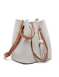 Tassel Buckets Totes Handbag Women's and Girls' Hobos and Crossbody Shoulder Bag