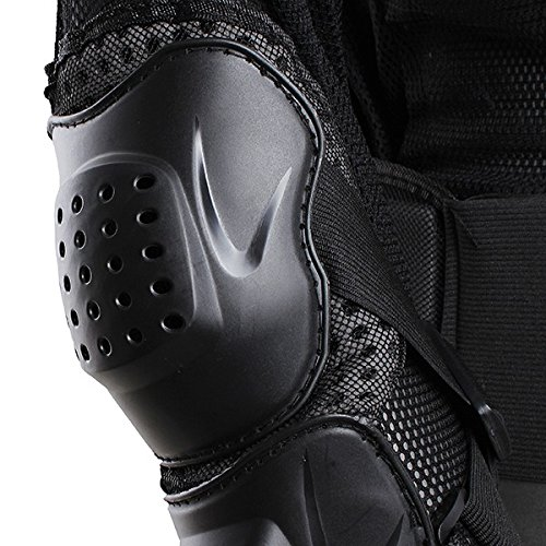 Motorcycle Racing Enduro Body Armor Spine Chest Protective Gear Motocross Accessories Safety Protector Sport Jacket Black Size XXXL Fit For Vespa ET2 ET4 Limited by SKY (Image #8)