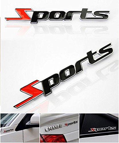 Arrow Letter Locker (1-Pc Extreme Popular 3D Sports Car Stickers Auto Decal Letter Metal Badge Topsale Size 1.3 x 13.5 cm)