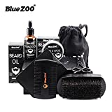 Cheap BlueZOO Beard Grooming & Trimming Kit Beard Growth Gift Set for Men Shaping & Moisturising with Unscented Leave-in Conditioner Oil, Mustache & Beard Balm Wax, Beard Brush, Beard Comb, Sharp Scissors