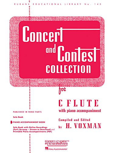 Concert and Contest Collection for C Flute: Piano Accompaniment (Rubank Educational Library)