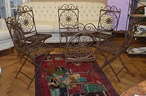 Sedie In Ferro Battuto Usate : Art bx gruppo sedie in ferro battuto amazon casa e cucina