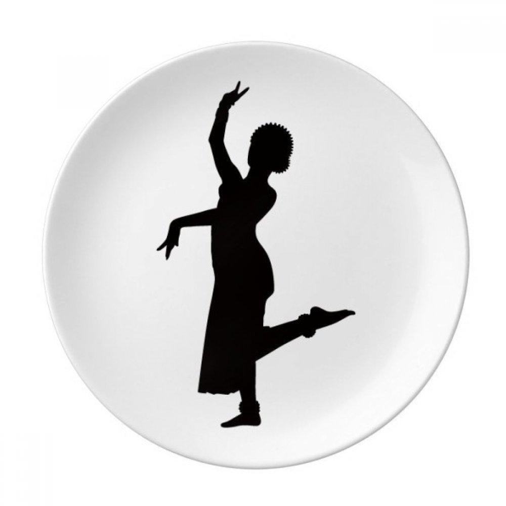 Peacock Dance Dancer Art Sports Dessert Plate Decorative Porcelain 8 inch Dinner Home
