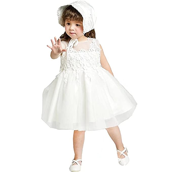 Amazon.com: Kids Showtime Baby Girls Christening Baptism Dress Lace ...