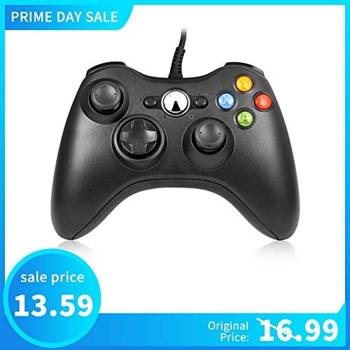 Microsoft Xbox 360 Controller Computer - RegeMoudal Xbox 360 PC Game Wired Controller for Microsoft Xbox 360 and Windows PC (Windows 10/8.1/8/7) with Dual Vibration and Ergonomic Wired Game Controller.