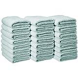 Amazon Basics Cotton Hand Towels, Ice Blue - Pack