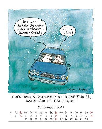 Löwe 2017 Sternzeichen Cartoonkalender Kalender Wandkalender 1