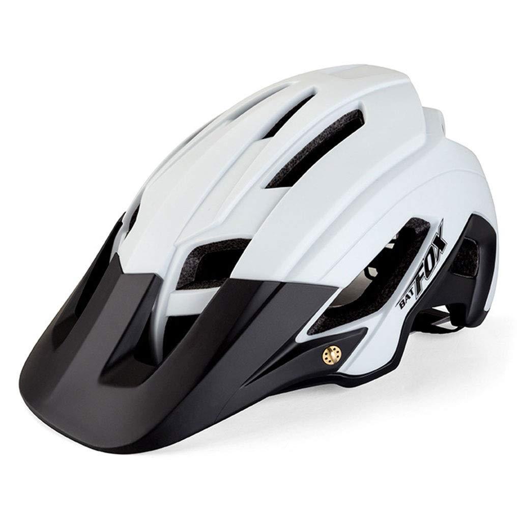 Erwachsener Fahrradhelm, Kletterhelm CPSC-Zertifizierung Mit Sonnenblende Bergstraße Verstellbarer Komfort Sicherheit Schutz Outdoor-Sport Weiß