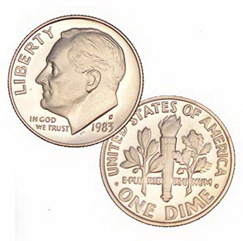 Roosevelt Dime 10 Cent Coin (1983 S Us Mint Roosevelt Proof 10 Cent Dime Coin)