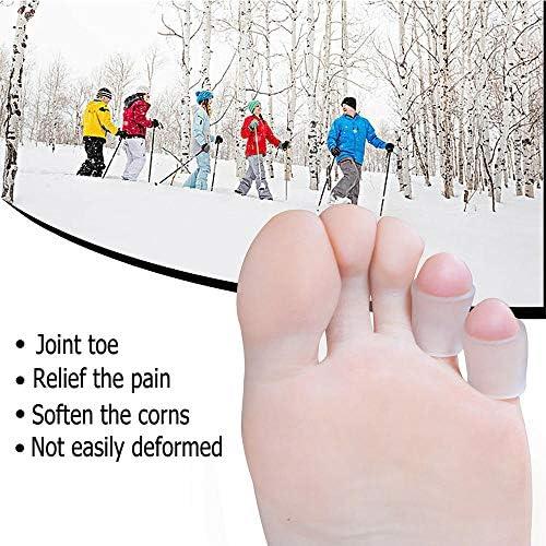 Tatapai Orthopädische Einlegesohlen 6-Teiliger Transparenter Gel-Finger-Schutz Mais-Korrektor Hammer Toe Separator Orthesen-Silikon-Gel-Toe-Tube-Separationsschutz