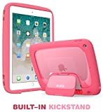 New iPad 9.7 2018/2017 Case for kids, Mumba iPad 9.7 Inch Protective Case for Apple iPad 5th/6th Generation [Kido Series] [Kickstand] [Shoulder Strap](Pink)