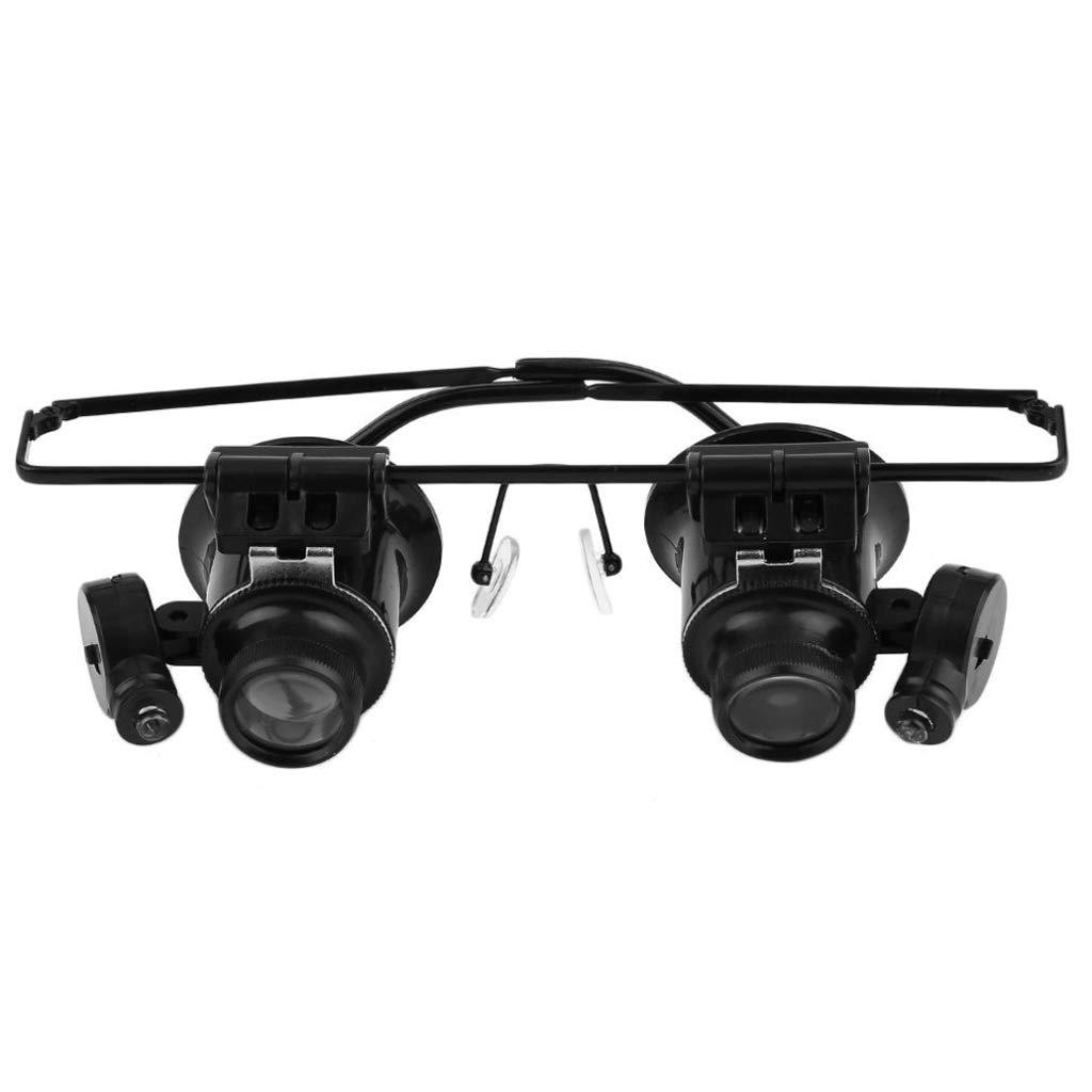 20X LED de Lupa Gafas Lupa de LED acrílico Lupa Lupa Gafas con Joyas de Luz Reloj de Reparación de Herramientas ed1a52
