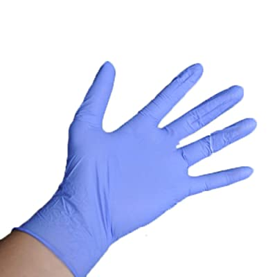 Panfinggin Nitrile Gloves, Disposable Gloves,10 Pcs Powder Free, Disposable Exam Gloves (Blue): Clothing