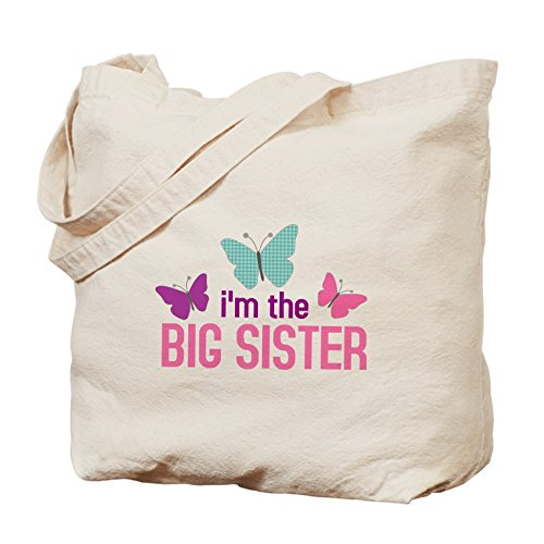 CafePress Unique Design i'm the big sister butterfly Tote Bag - Standard by CafePress