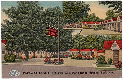Linen Postcard Parkway Court Hotel in Hot Springs National Park, (Postcard Hot Springs National Park)