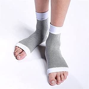ASTAS Foot Sleeves (2 Pairs) Best Plantar Fasciitis Compression Sock for Men & Women - Heel Arch Support/ Ankle Sock, Great for Hiking, Relieve Arch Pain, Reduce Foot Swelling,Better feel.