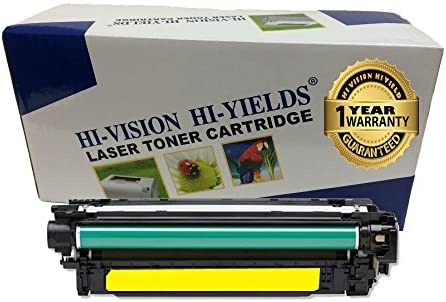 HI-Vision Compatible HP 507A CE402A Yellow Toner Cartridge Replacement for Laserjet Enterprise 500 Color MFP M575dn,M575f,M551n,M551xh,M551dn Printer